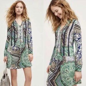 Anthropologie TINY Dress Caviana Boho Drop Waist